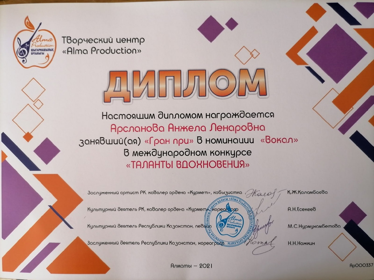 Артисты СГТКО стали обладателями Гран-при Международного конкурса